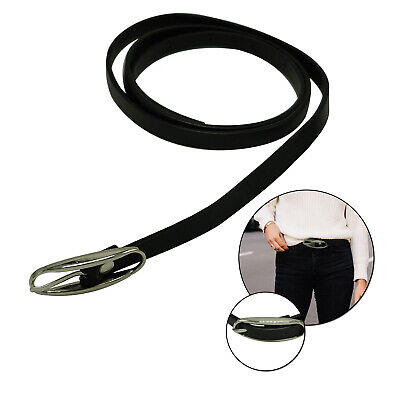 Thin Narrow Ladies Shiny Black Waist Belt For Stylish Girls Fashion Party Events