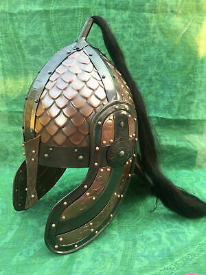 Medieval Viking Mask Armour Helmet Reenactment Copper Finish Antique Gift Item