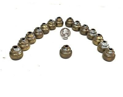 """15 Antique Brass Bed Rod End Caps Fits 5/8"""" Tubing free ship"""