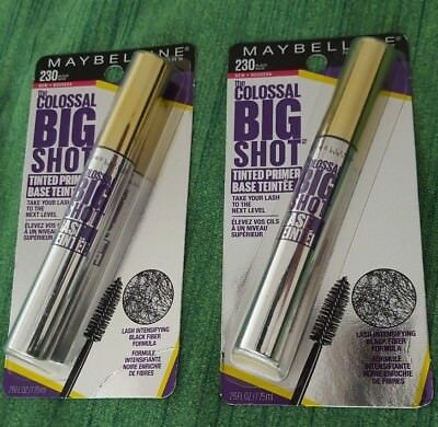 59bb8acc518 Maybelline New York The Colossal Big Shot Tinted Primer 230 Black Noir Lot  Of 2