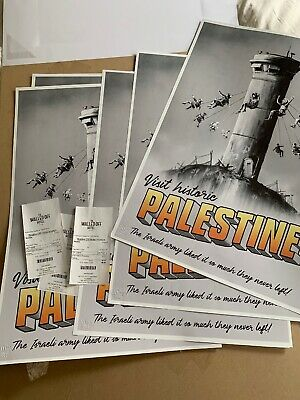 Banksy Walled Off Hotel Palestine Poster With Receipt 1st Edition