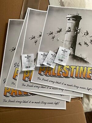 Banksy Walled Off Hotel Palestine Poster With Receipt