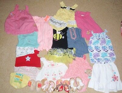 37856d1f3 BABY GIRL LOT of 19 pcs Newborn   0-3 M Outfits