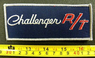 Embroidered patch DODGE CHALLENGER RT 1970s vintage OLD MOPAR very rare