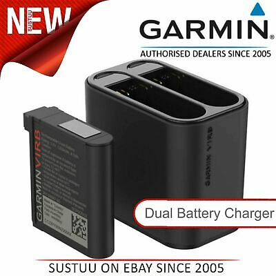 Official Garmin Dual Charger/1 x Lithium-ion Battery│For VIRB Ultra 30 Camera