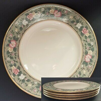 "(4) Lenox ""Spring Vista"" First Quality ACCENT LUNCHEON Plates, 9 3/8"" EUC"
