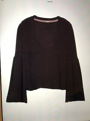 3e373ce261ba6 NWOT Free People Urban Outfitters Damsel Black Bell Sleeve Cropped Sweater S