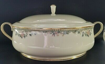 "Lenox ""Spring Vista"" First Quality ROUND COVERED VEGETABLE Dish, EUC"