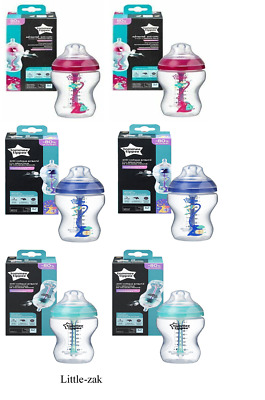 Tommee 2x AAC 340ML Bottle advnaced Anti colic heating sensor & MINI TEAT BRUSH