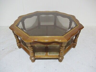 Reproduction Mahogany Coffee Table Octagonal Shape Larger Size