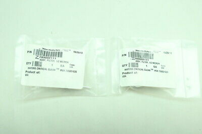 2x Waters 289002111 1/2 Micron Filter Assembly