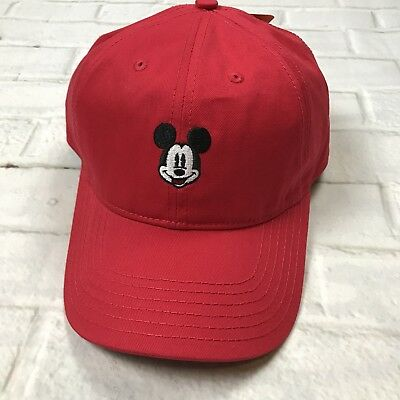 d70d8af6a4085 Disney Mickey Mouse Dad Hat Curved Brim Adjustable Strap Red New With Tags