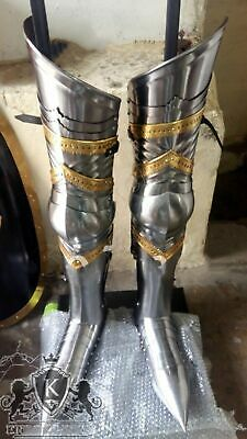 Collectibles Steel Greaves Medieval LARP Armor Leg Guard Reenactment Replica