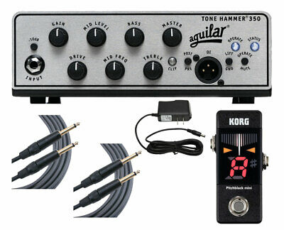 Aguilar Tone Hammer 350 + Pitchblack Mini Tuner + Cables + Power Supply