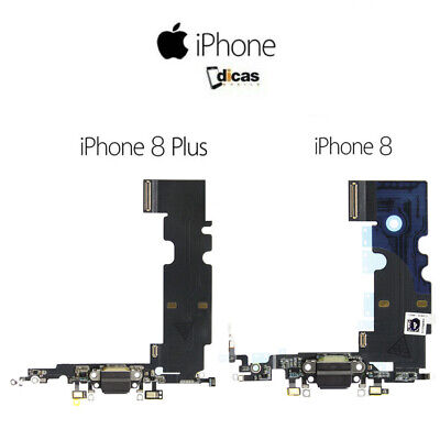 Dock de Carga Para iPhone 8 / 8 Plus Flex Conector USB Repuesto Micrófono Jack