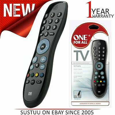 One For All Universal Remote Control For TV│15 m Infra-Red Range│Black│URC6410