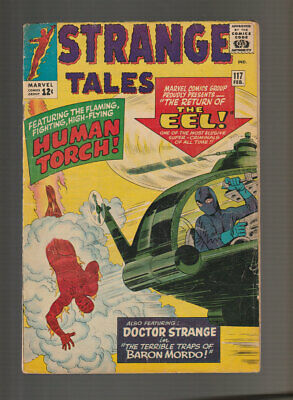 Strange Tales # 117  The Return of the Eel !  grade 4.0 scarce book !