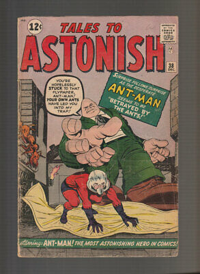 Tales to Astonish # 38  Betrayed by the Ants !  grade 3.5 scarce book !