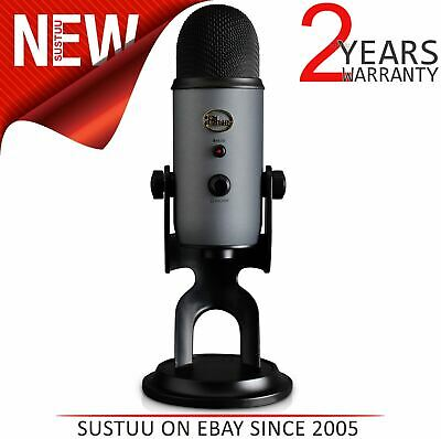 Blue Microphone Yeti USB Mic-Slate¦Cardioid-Bidirectional-Omnidirectional-Stereo