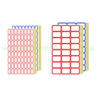 4-100Pcs Self Adhesive Sticky Blue/Red Label Stickers Blank Note Tag Name Craft