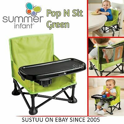 Summer Infant Pop N Sit│Baby Travel Folding Chair│Partable Booster Seat│Green