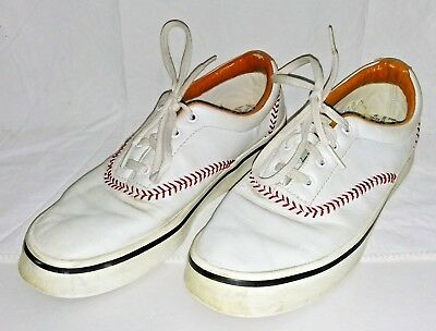 cea03d03d3c Vintage Keds Champion Pennant Leather Baseball Sneakers Women s Size 10M  White