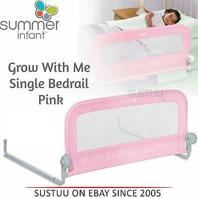 Summer Infant Grow With Me Single Bedrail¦Baby Kid's Bed Safety Guard Rail¦Pink