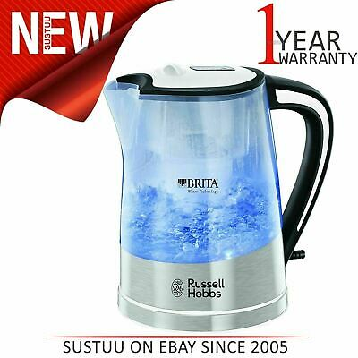 Russell Hobbs 22851 Plastic Brita Filter Purity Transparent Kettle│3000W│1L│Whit