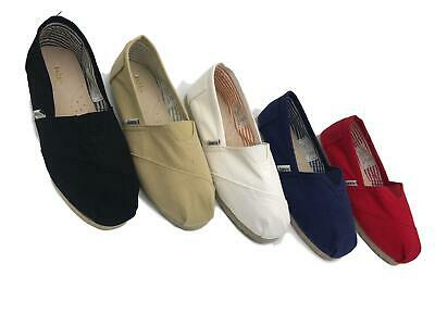 TOMS Style Loafers Espadrilles Mens Ladys Boys Girls Slip On Canvass Flat Shoes