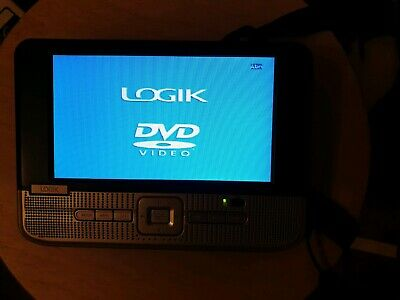 "Logik L7TDVD10 In Car 7"" Twin Screen Headrest Portable DVD Player & Rechargable"