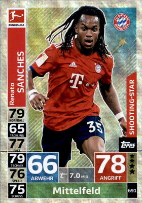 Topps Match Attax Extra 18/19 691 - Renato Sanches - Shooting-Stars
