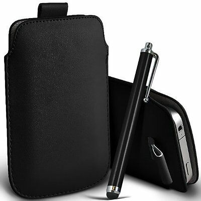 PU Leather Pull Tab Pouch Case (XXXL) & Large Pen for Samsung Galaxy S10 Plus