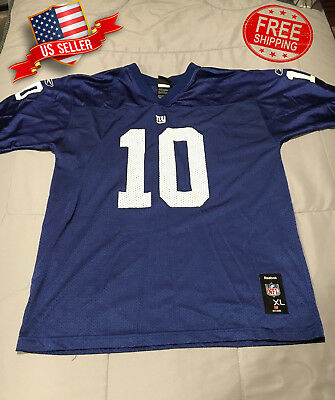 52cb025200c New York Giants  10 Eli Manning Jersey Sewn On Reebok On Field Youth Size Xl
