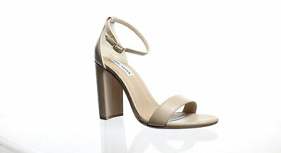 ae6dfe0c6ff Steve Madden Womens Carrson Blush Leather Ankle Strap Heels Size 7.5  (195167)