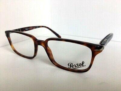 e3b1dfd564a New Persol 3013-V 24 Tortoise 53mm Men s Rectangular Eyeglasses Frame Italy