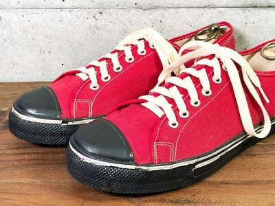 fedea89f4a61aa Vintage Sneakers 1950 s Made in USA Rare Red x Black Size 9.5 Men s Shoes  Y82