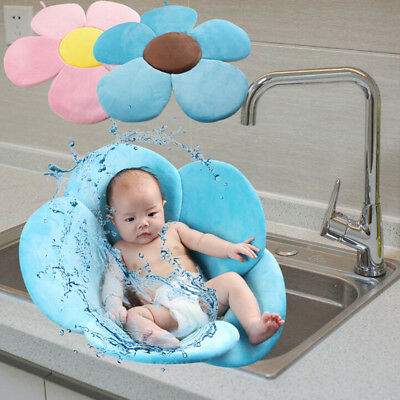 Baby Bath Tub Toddler Safety Foldable Soft Flower Petal Bathtub Pad Support Wd