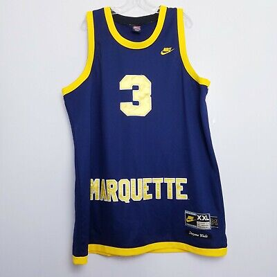 3834a59bf Marquette Golden Eagles Dwyane Wade  3 basketball college NCAA Nike Jersey  XXL