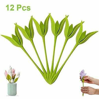 12Pcs Bloom Napkin Holders - Flowers Floral Green Design for Table Decoration