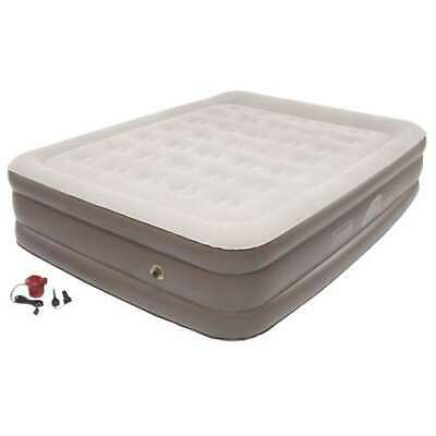 Coleman Queen Supportrest Plus PillowStop Double-High Air Bed/Pump (Open Box)