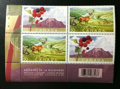 Canada #2105-2106a MNH, Biosphere Reserves LL Plate Block of Stamps 2005