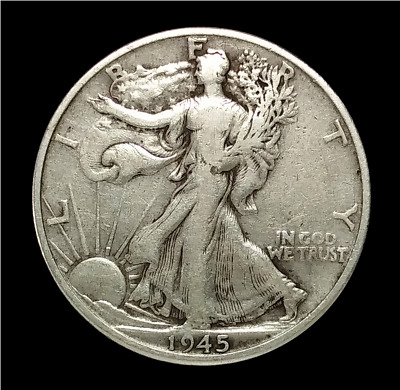 1945-D Walking Liberty Half Dollar Silver Coin Nice Cond. Denver Mint (W02)