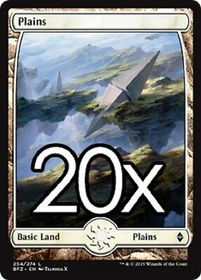 kaartspellen MTG Basic Full Art Land Lot Magic 20 Battle for Zendikar Island # 255