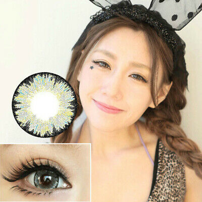 Elegant Round Big Eyes Makeup Cosmetic Contact Lenses Lens Women Party Cosplay N