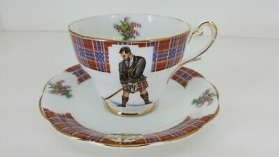 Royal Standard BONNIE SCOTLAND fine porcelain Tea Cup / Saucer set CLAN CAMERON