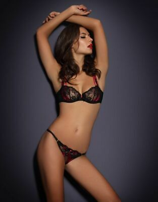 SOLD OUT AGENT Provocateur Lindie nude and black tattoo lace bra 34D ... e733a6dcf