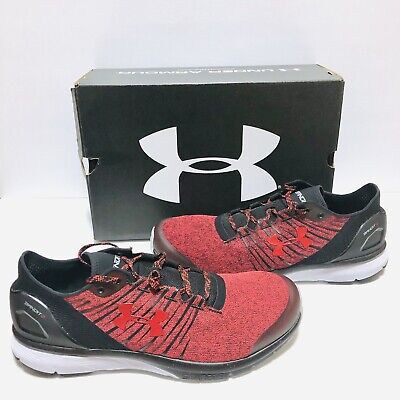 8bf52ecdb59 Under Armour Charged Bandit 2 Mens Running Shoes Red Black 1273951-600 NIB  New
