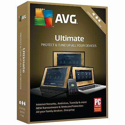 NEW AVG Ultimate 2019 - Unlimited Devices 1 Year protection Android Mac Windows