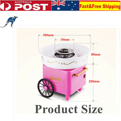 Electric Cotton Candy Machine Sweet Pink Sugar Fairy Retro Cart For Home Party