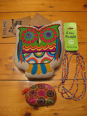TREE CHILD rainbow OWL bohemian gypsy LOT NEW hippie boho india TREE OF LIFE